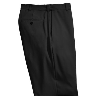 Washable Wool-Blend Flat-Front ComfortSizer Pants