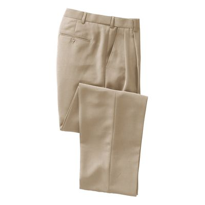 World-Class Microfiber Pleated ComfortSizer Pants