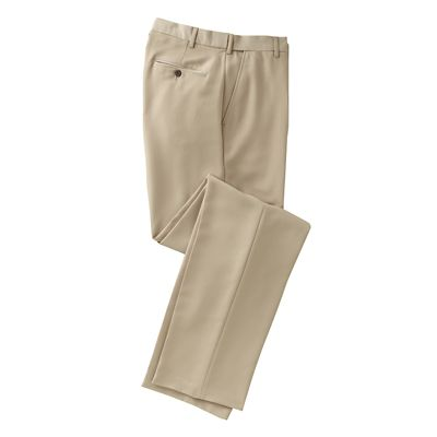 World-Class Microfiber Flat-Front ComfortSizer Pants