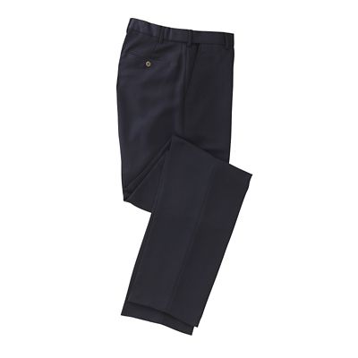 World-Class Microfiber Flat-Front ComfortSizer Pants