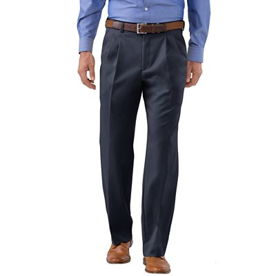 Men's Washable Wool Pleated Pants