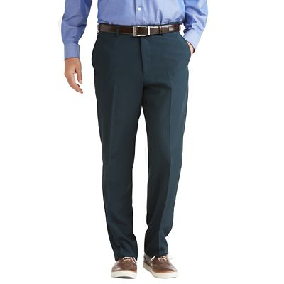 Men's Tropical Microfiber Flat-Front ComfortSizer Pants