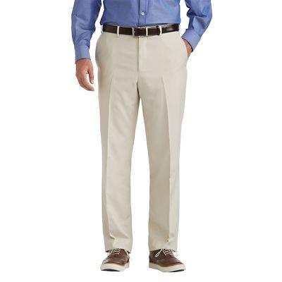 Tropical Microfiber Flat-Front ComfortSizer Pants