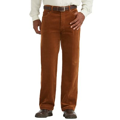 Traditional-Fit Washed-Corduroy Pants