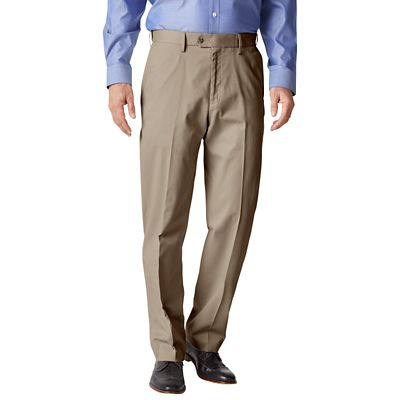 RFID-Blocking Traveler's Twill Flat-Front Pants