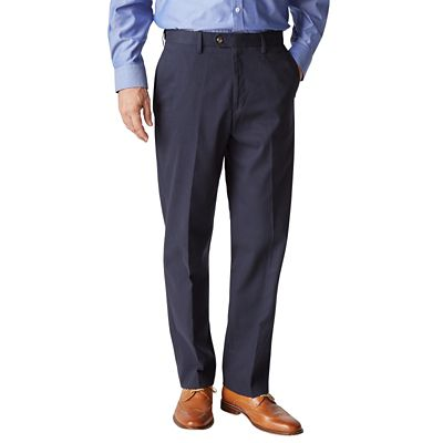 RFID-Blocking Traveler's Twill Flat-Front Pants