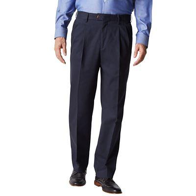 RFID-Blocking Traveler's Twill Pleated Pants