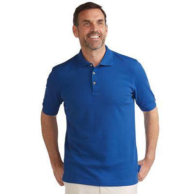 CoolMax-Cotton Pique Banded Short-Sleeve Polo