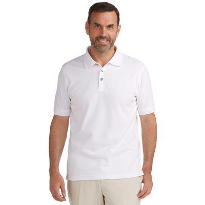 CoolMax-Cotton Pique Banded Short-Sleeve Polo