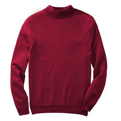 Silk-Blend Long-Sleeve Mock-Neck Sweater