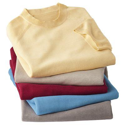 Silk-Blend Short-Sleeve Mock-Neck Sweater