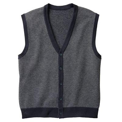 Birdseye Merino-Blend Button-Front Vest