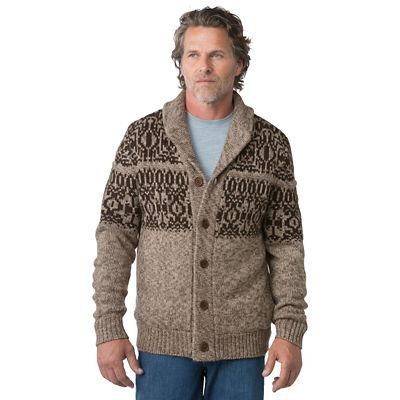 Weatherproof Fair Isle Sherpa Shawl Sweater