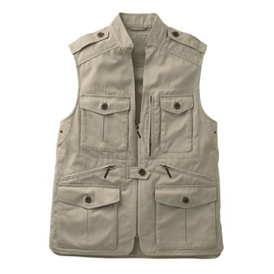 Men's Bush Poplin Safari Vest