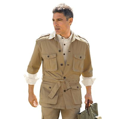 Men's Safari Short-Sleeved Jacket