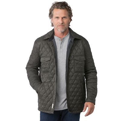 Weatherproof Diamond Quilt Shirt Jacket