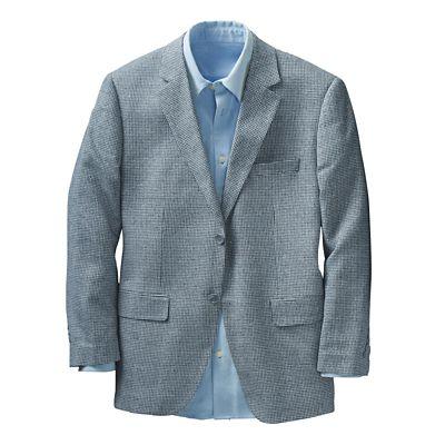 Blue Yonder Silk Matka Sport Coat