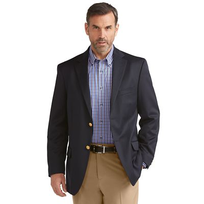 Men's RFID-Blocking Washable Wool Varsity Blazer