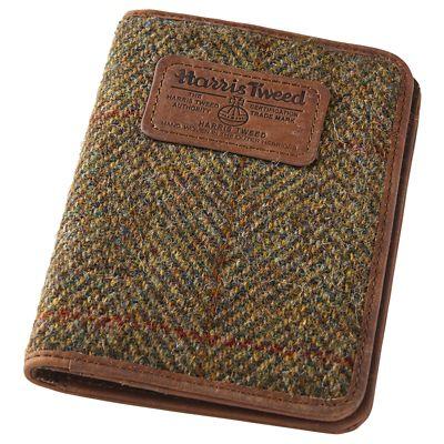 Harris Tweed & Leather Passport Wallet