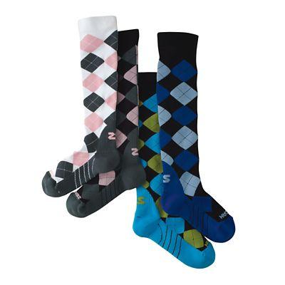 Zensah Fresh Legs Argyle Compression Socks