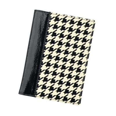 Houndstooth RFID-Blocking Passport Wallet