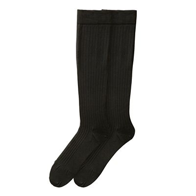 Ribbed Compression Dress Socks