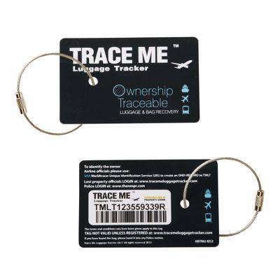 Trace Me Trackable Luggage Tag