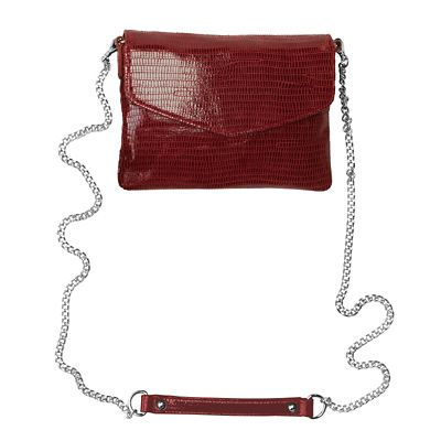 RFID-Blocking Faux-Lizard Leather Crossbody Bag