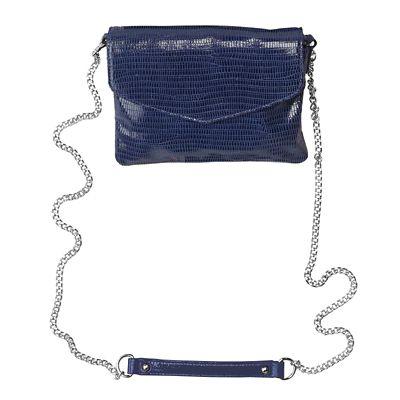 RFID-Blocking Faux-Lizard Leather Crossbody Bag