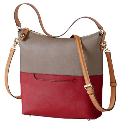 Signature RFID-Blocking Saffiano Shoulder Bag