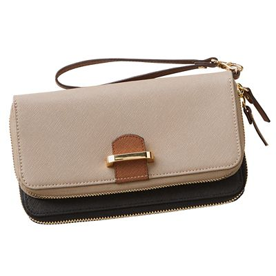 Signature RFID-Blocking Saffiano Wristlet