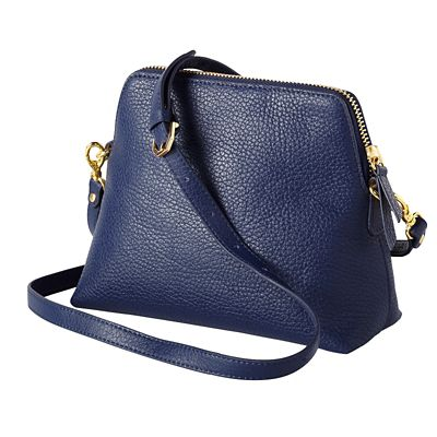 RFID-Blocking Leather Crossbody Bag
