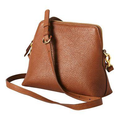 RFID-Blocking Leather Crossbody Bag