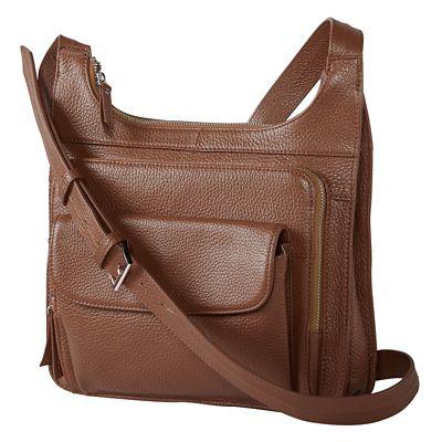 RFID-Blocking Traveler Leather Crossbody