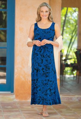 Voyager Knit Sleeveless Long Sundress Outfit