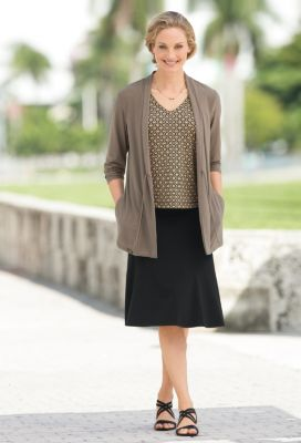 Jet Set Knit Convertible-Neck Print Tank Outfit