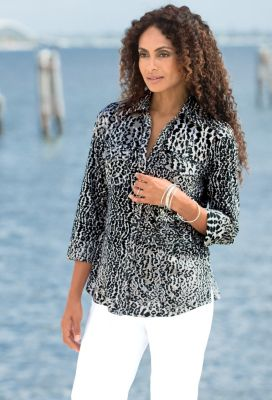 Foxcroft Safari Wrinkle Free Shirt Outfit