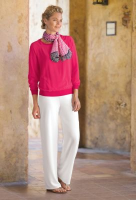 Casual Silk Pullover Outfit