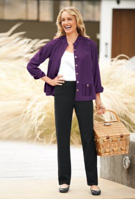 Cropped Microfiber Shirt Outfit