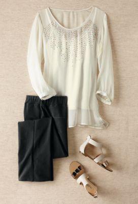 Embellished Gossamer Tunic Outfit