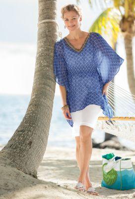 Mediterranean Tile-Print Tunic Outfit