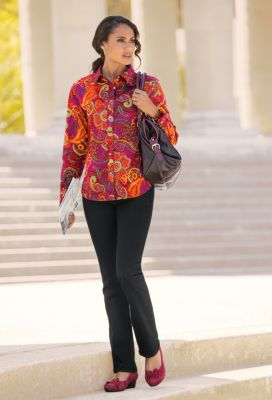 Paisley Print Shirt Outfit