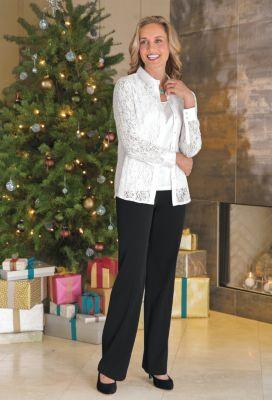 Elizabeth Lace Shirt Outfit