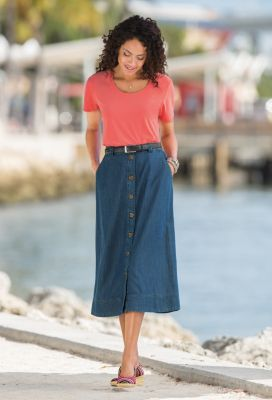 Ultimate Denim Skirt Outfit
