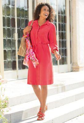 Passport Silk Shirtdress Outfit