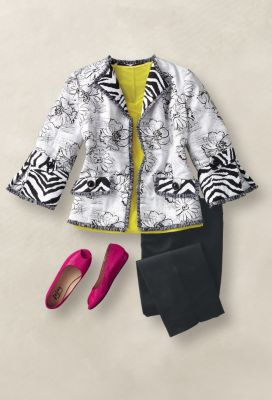 Berek for TravelSmith Floral Jacket Outfit