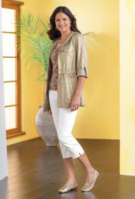 Metallic Linen Jacket Outfit