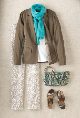 Slit-Cuff Summer Jacket Outfit