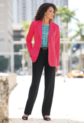 Pleat-Pocket Jacket Outfit