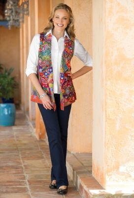 Flores Embroidered Vest Outfit